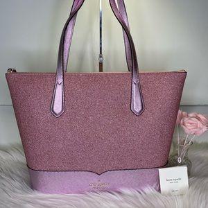 💗 Kate Spade 👛 Lola Glitter Tote Rose Pink